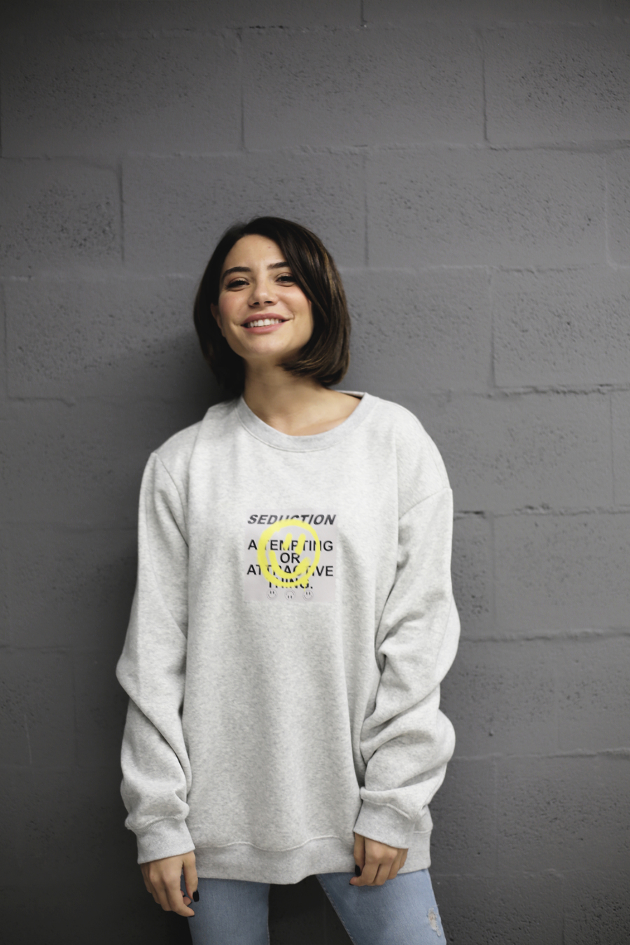 SEDUCTION LONGSLEEVE GREY  (Out Of Stock)