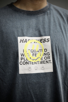 HAPPINESS T-SHIRT GREY