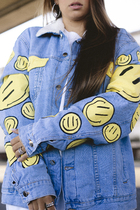 SMILE COLOR WINTER  JACKET (YELLOW)