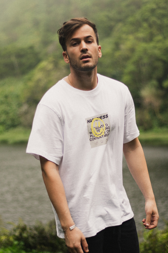 HAPPINESS T-SHIRT WHITE (OUT OF STOCK)